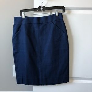 Jcrew navy pencil skirt